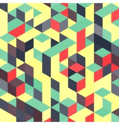 Abstract geometrical 3d colorful background can vector