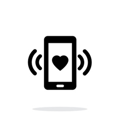 Romantic phone call icon on white background vector