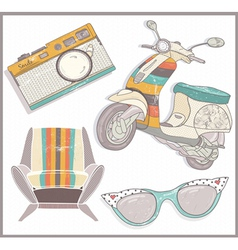 Retro elements set vector