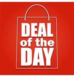 Deal of the day poster with bag vector