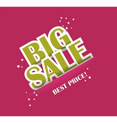 Big sale text with copy space vector