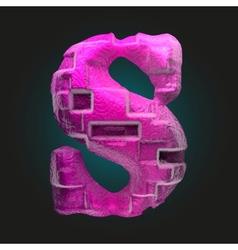 Pink plastic figure s vector