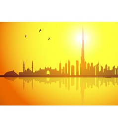 Dubai sunset vector