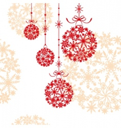 Abstract christmas ornament vector