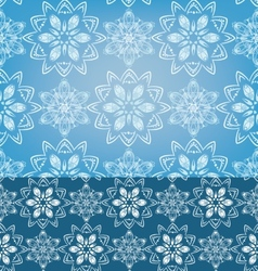 Geometric snowflakes seamless pattern background vector