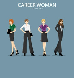 Four smart and fashionable career woman vector