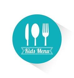 Kids menu design vector