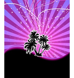 Discotheque night palm vector