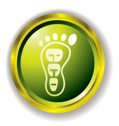 Eco foot icon vector