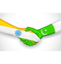 Handshake between india and pakistan vector