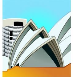 Opera house vector