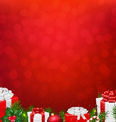 Red wall with fir tree border vector