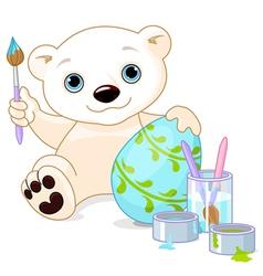 Easter polar bear vector