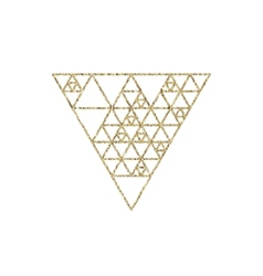 Hipster triangle linear gold background vector