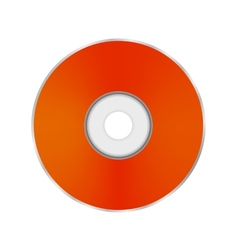 Orange compact disc vector