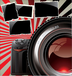 Retro background - professional camera vector