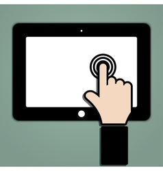 Click on the touch screen tablet vector