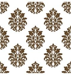 Damask style arabesque pattern vector