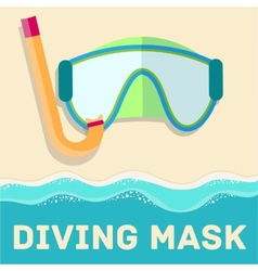 Retro flat diving mask concept design vector