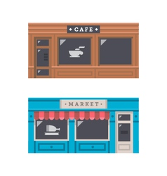 Shop front facade flat design vector