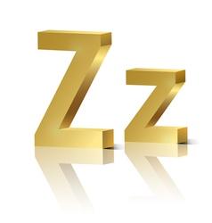 Golden letter z vector