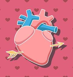 Heart arrow2 vector