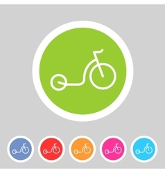 Kick bike scooter flat icon web sign symbol logo vector