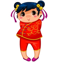 Chinese girl vector