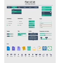 Ui kit is a of beautiful components featuring the vector