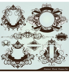 Heraldry frames vector