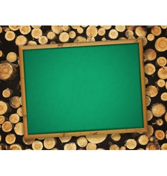 School empty blackboard vector