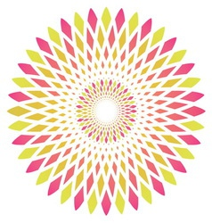 Abstract circle flower vector