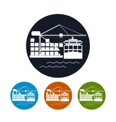Cargo container ship iconlogistics icon vector