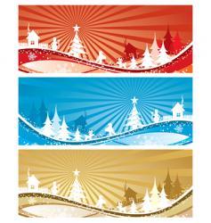 Christmas landscape vector