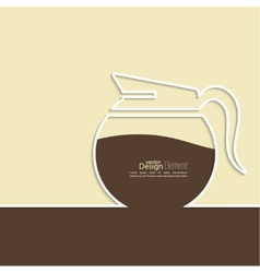 Abstract background with a coffee pot vector