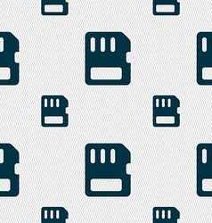Compact memory card icon sign seamless pattern vector