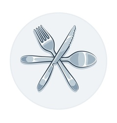 Kitchen utensils fork knife vector