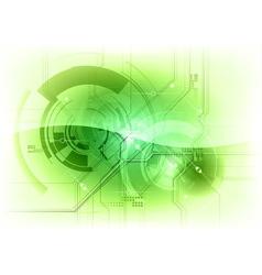 Tech background green gloss vector