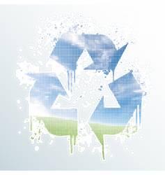 Grunge recycle symbol vector