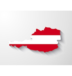 Austria map with shadow effect vector