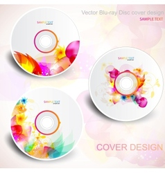 Flora cd design vector