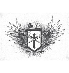 Vintage emblem with crest vector