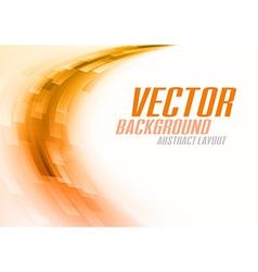 Background curve stripes orange white vector