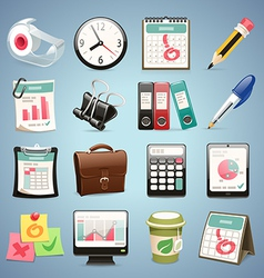 Office equipment icons set1 1 vector