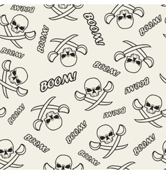 Seamless texture with skulls vector