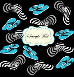 Seamless pattern with blue flip flops vector