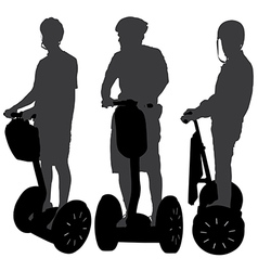 Segway silhouette vector