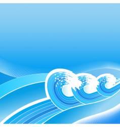 Summer business waves background vector