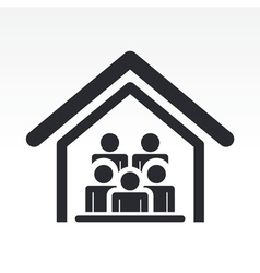 Guests house icon vector
