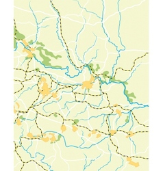 Map of the country vector